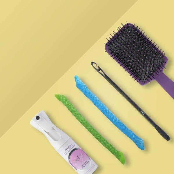 Corkscrew curls set