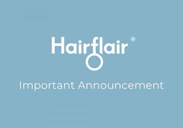 HairFlair Anuncio de Covid
