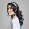 Julia Wearing Summer Flair-Silk Scarf