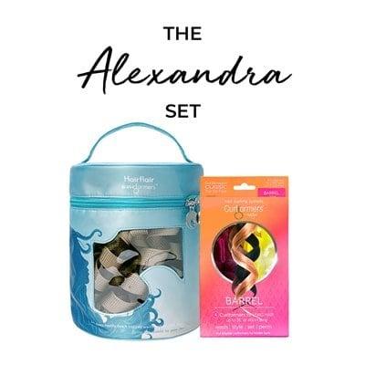 El conjunto de Alexandra - Beach Flair Kit de peinado y paquete de recarga de barril