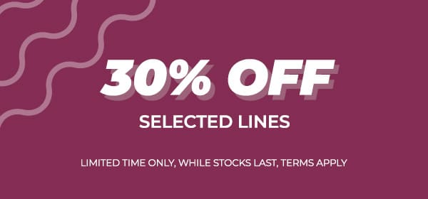 Summer sale 30% off selected lines
